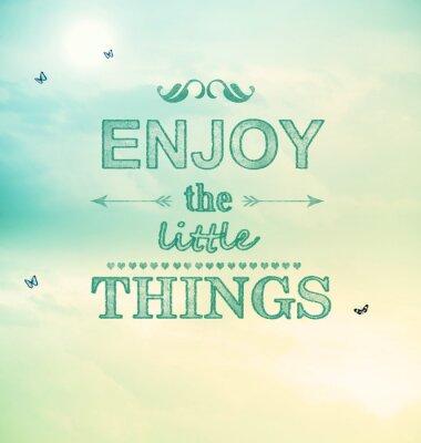 Obraz Užijte si Little Things text s malými motýlů