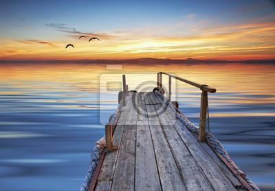 Obraz vacaciones en el lago