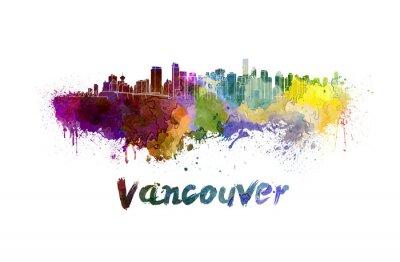 Obraz Vancouver skyline v akvarelu