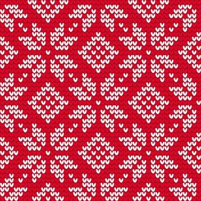 Obraz Vánoce pletené bezešvé vzor