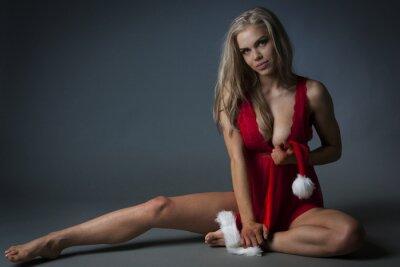 Obraz Vánoční dívka