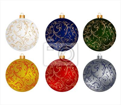 Vánoční koule nastavena
