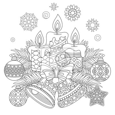 Vanocni Omalovanky Svatecni Dekorace Zavesne Koule Svicky Obrazy