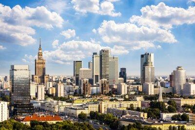 Obraz Varšava obchodní čtvrť