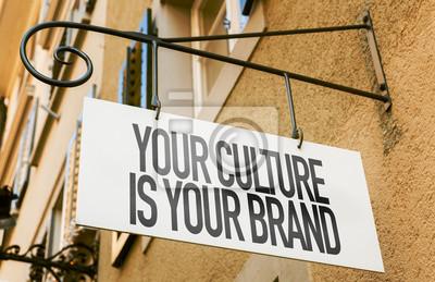 Obraz Vaše kultura je vaše značka přihlásit Koncepční obraz