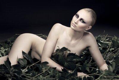 Obraz vášnivá a sexy ruské žena krásné postavy