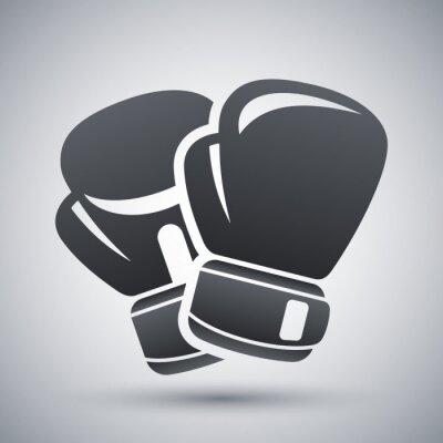 Obraz Vector boxing gloves icon