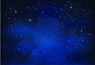 Obraz Vector noční hvězdnou oblohu na pozadí.