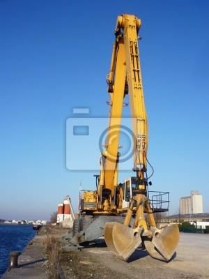 véhicule de chantier à benne Preneuse