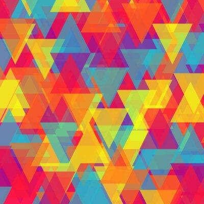 Obraz Vektor abstraktní trojúhelník pozadí