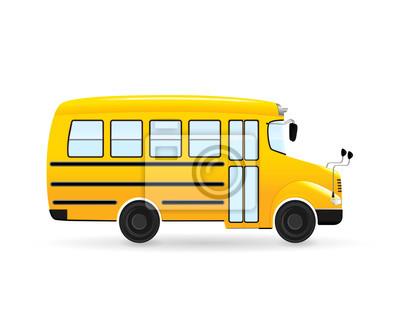 Vektor Kresleny Skolni Autobus Izolovan Od Bilem Pozadi Obrazy Na
