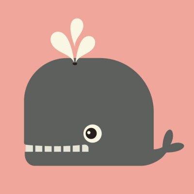 Obraz vektor roztomilý velryba