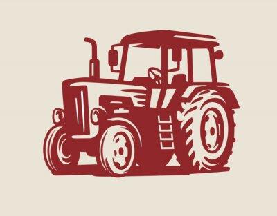 Obraz vektor Traktor symbol