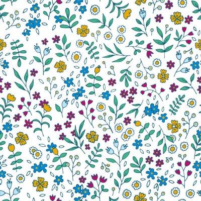 Obraz Vektorové barevné květinové bezproblémové vzorek