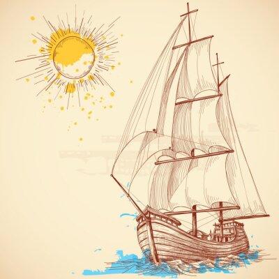Obraz Vektorové plachetnice