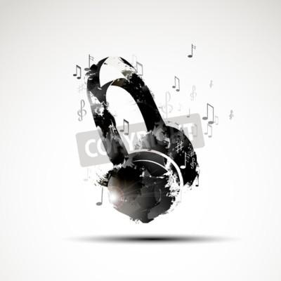 Obraz Vektorové pozadí abstraktní akvarel sluchátka