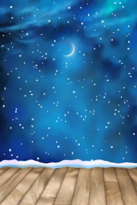 Obraz Vektorové Zimní Noční mraky pozadí