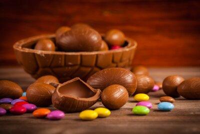 Obraz Velikonoční čokoládové pozadí