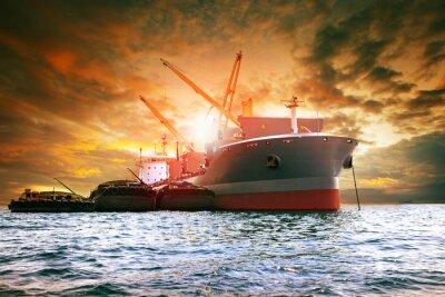 Obraz velká kontejnerová loď nakládací průmyslová odvětví pro logistiku