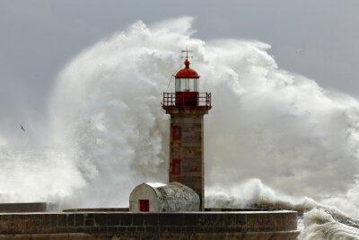 Obraz Velké bouřlivé vlny