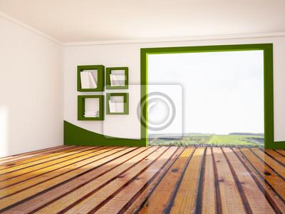 Velké okno v místnosti, 3d