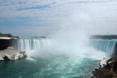 Obraz Velkolepé Niagara Falls v zimě.