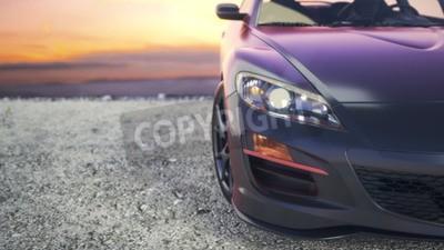 Obraz Velmi luxusní automobily, které stojí za sluncem.