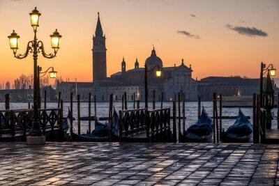 Obraz Venezia, alba e Chiesa di S. Giorgio