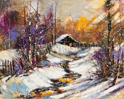 Obraz Venkovské zimní krajina