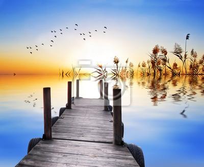 Obraz Verano en el Lago Azul