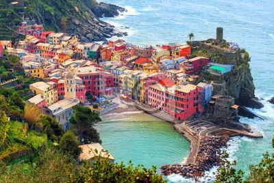 Vernazza v Cinque Terre, Itálie