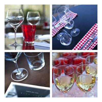Obraz Verre, Verrerie, vin, stůl, couvert, bar, pivnice, jeskyně