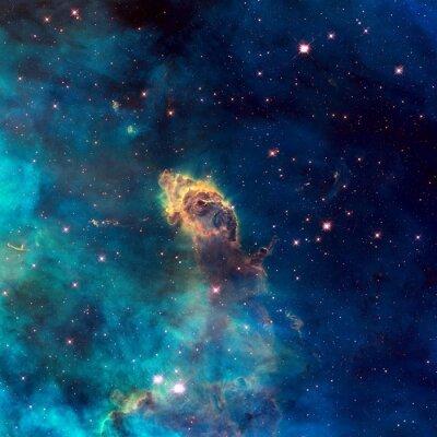 Obraz Vesmír naplněný hvězdné paprskem, hvězdy, mlhoviny a galaxie.