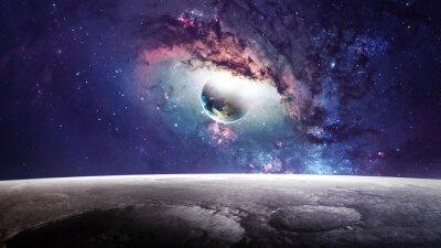 Obraz Vesmíru scéna s planety, hvězdy a galaxie ve vesmíru ukazují krásu vesmíru. Prvky zařízený NASA