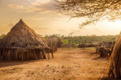 Obraz Vesnice Hamer poblíž Turmi, Etiopie