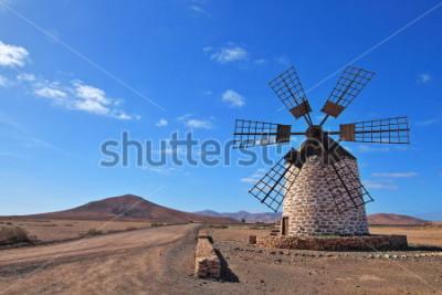 Obraz Větrný mlýn na Fuerteventura, Kanárské ostrovy, Španělsko