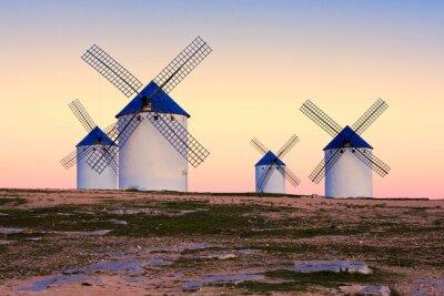 Obraz větrný mlýn v Campo de Criptana, La Mancha, Španělsko