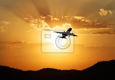 Obraz viajando en el avion