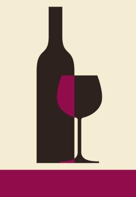 Obraz Vinný lístek designu