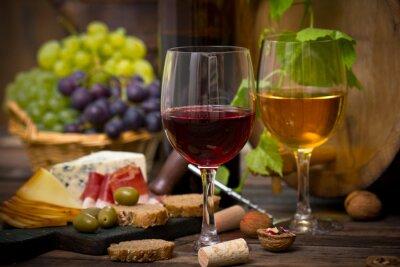 Obraz víno a sýr