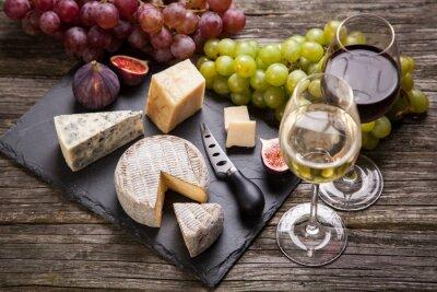 Obraz Víno a sýry