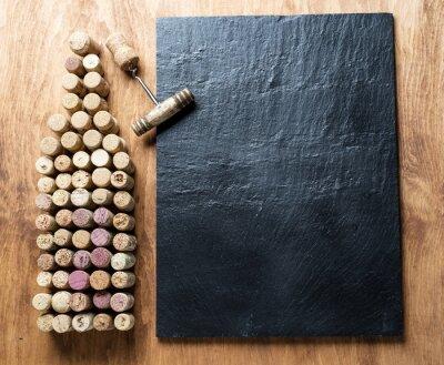 Obraz Víno zátky ve tvaru láhev vína.