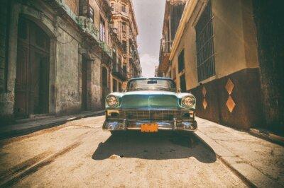 Obraz Vintage auto zaparkované v ulici Havana