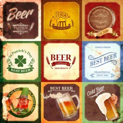 Obraz vintage banner pivo