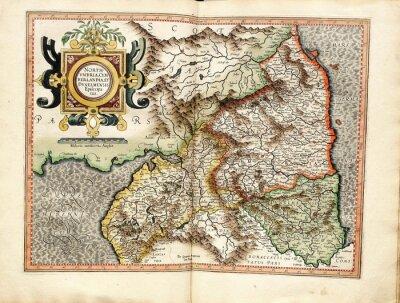 Obraz Vintage mapa