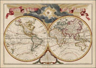Obraz Vintage mapa světa