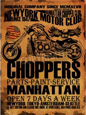 Obraz Vintage Motocykl tričko Graphic