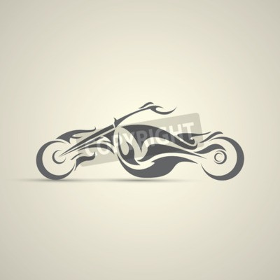 Obraz vintage motocyklový štítek, odznak, designový prvek. abstraktní logo motocyklu