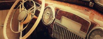 Obraz Vintage palubní desky (fragment)