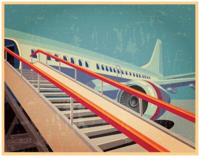 Obraz Vintage poster with plane